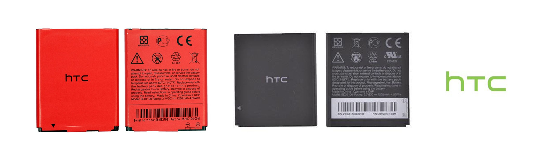 Batteries for HTC