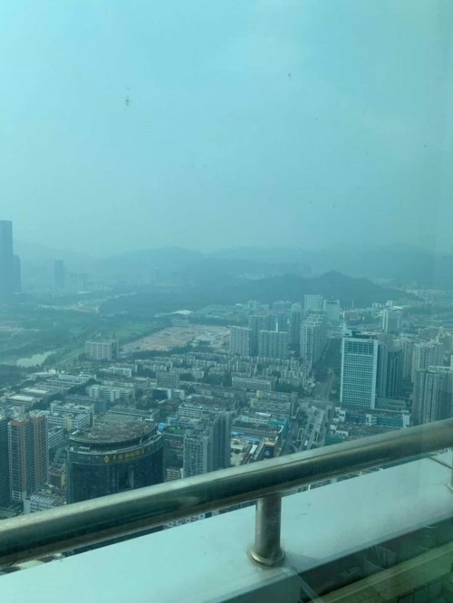 view from QianLi offices on the 69th floor !