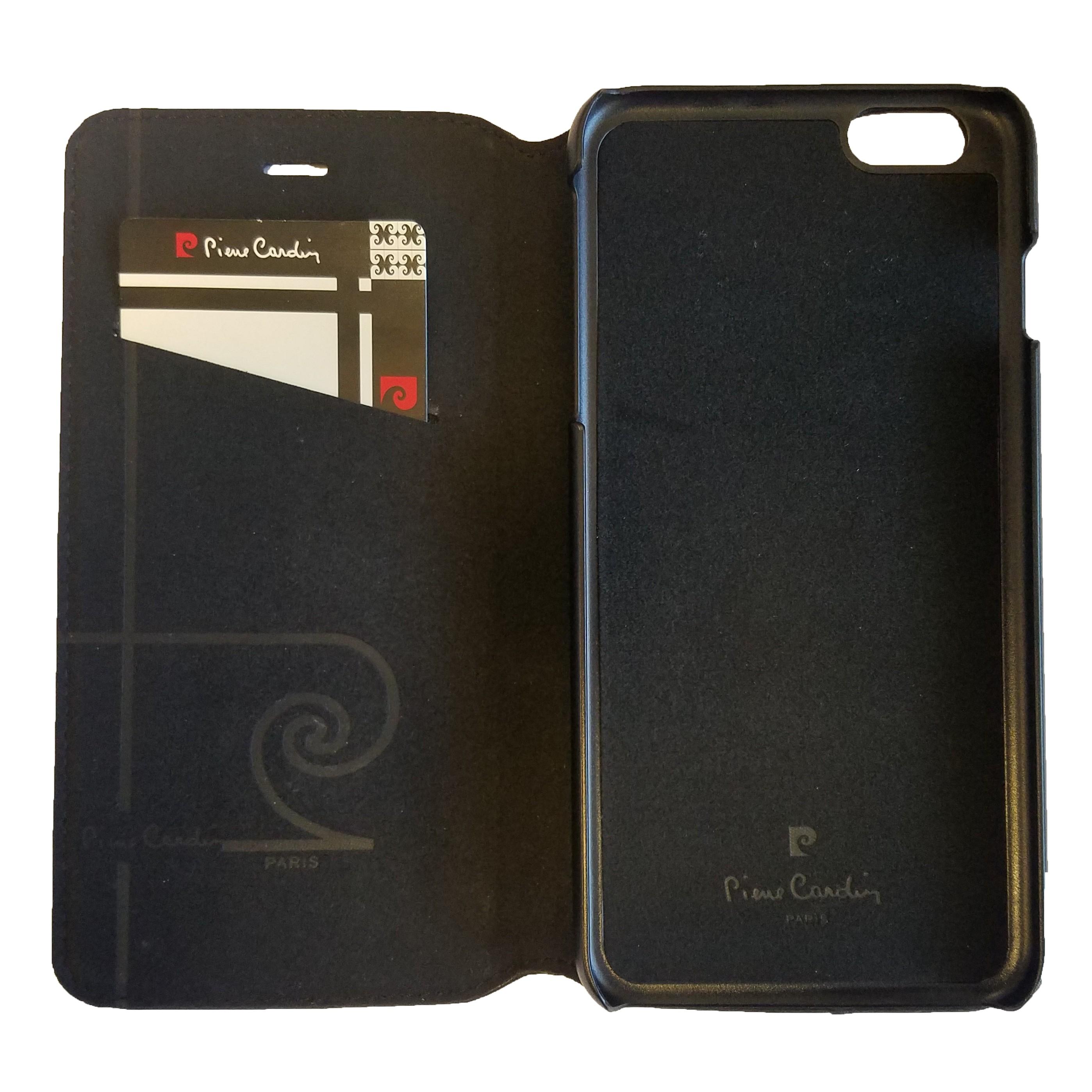 pierre cardin genuine leather iphone 6 6s plus flip case. Black Bedroom Furniture Sets. Home Design Ideas