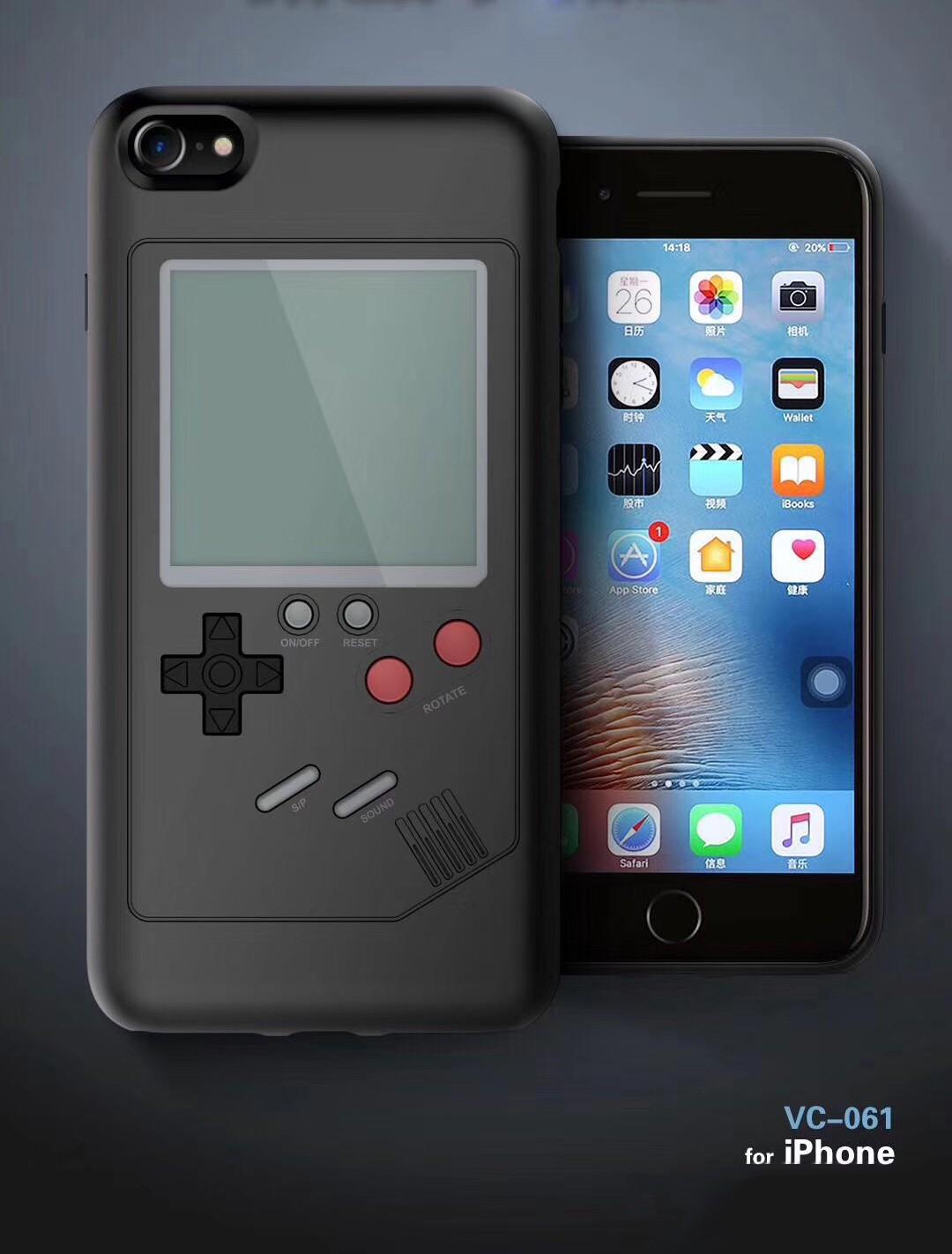 reputable site d0868 9c8d0 iPhone 7/8 PLUS Game Case Black - Games Console with Classic Games (Tetris,  etc)