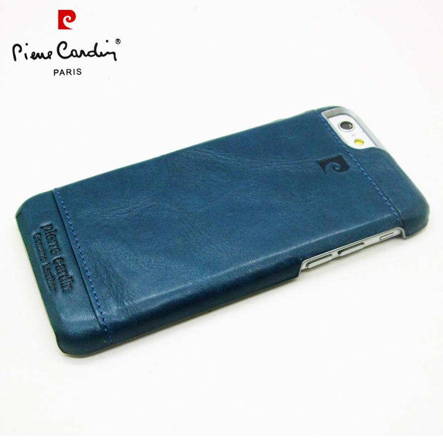 Pierre Cardin Genuine Leather Iphone 6 6s Plus Back Case Teal