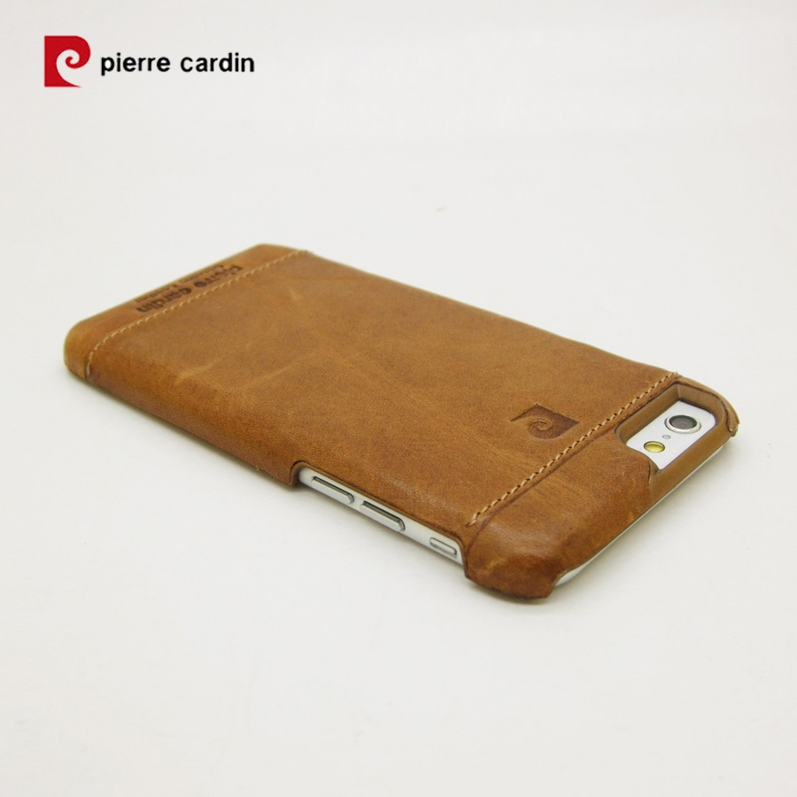 wholesale dealer 5ec60 bb2a3 Pierre Cardin Genuine Leather iPhone 6 6S Back case - Brown