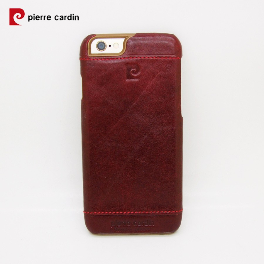 Pierre Cardin Genuine Leather Iphone 6 6s Plus Back Case Red