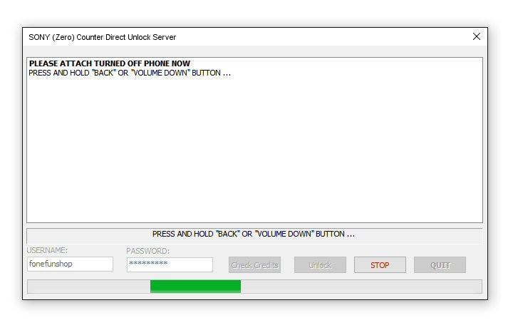 SONY Xperia Direct Network Unlock Server