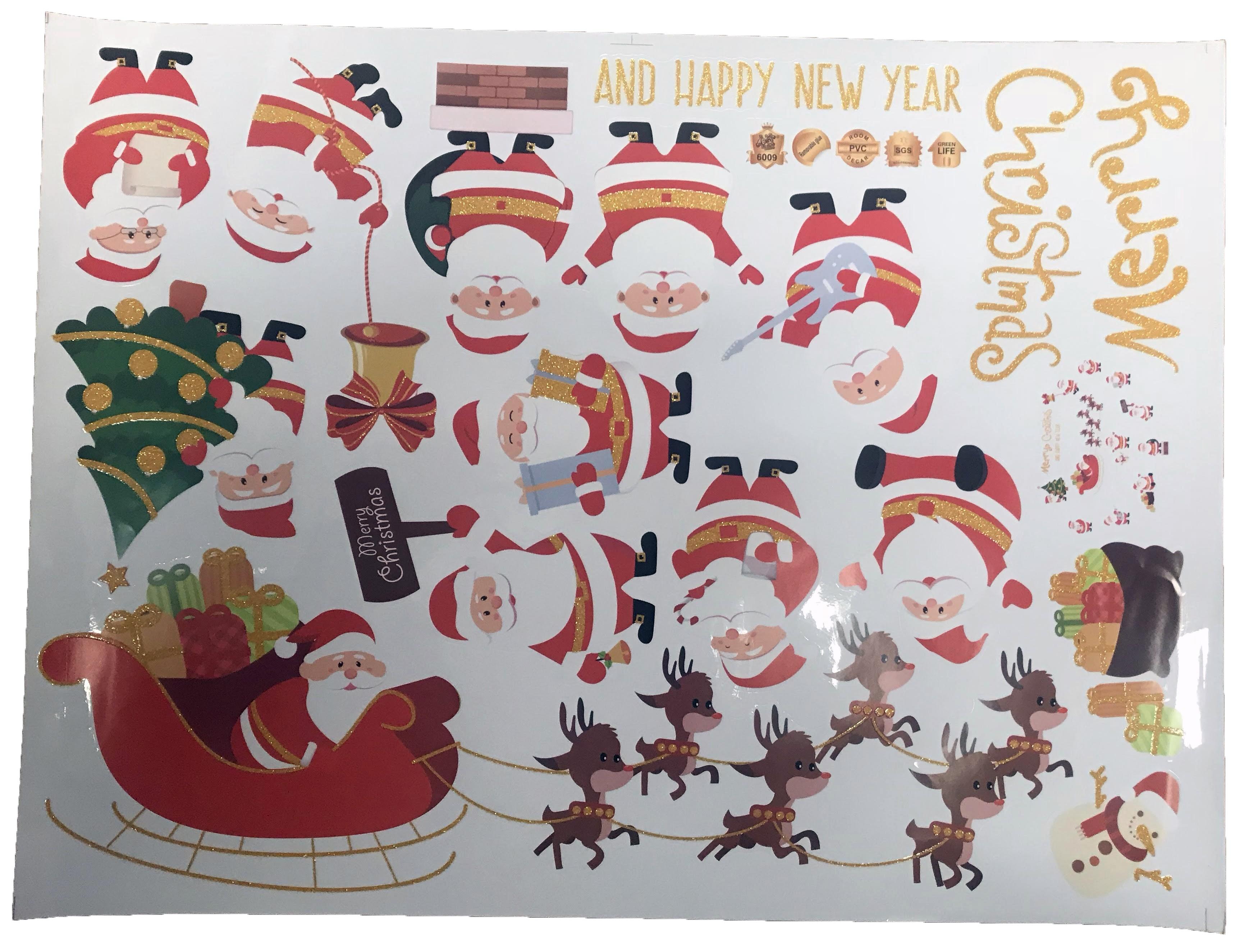 3d christmas decoration 17 sticker pack festive wall stickers for Christmas decoration packs