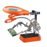Professional Soldering Magnifier with PCB Holder and LED Lights