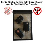 Family Size Car Keyless Entry Signal Blocker Anti Car Theft Multi Fob Protection