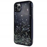 For iPhone 11 Pro - Switcheasy Black Starfield Quicksand Style Case