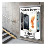 Promotional Poster A1 (HUGE) - Newly Designed Cracked Screens 1 Hour Repair Service
