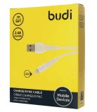 Budi 3m Lightning USB Charging Cable - White