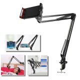 360 Adjustable Long Arm Phone Tablet Holder Bracket Stand Mount For Bed or Desk