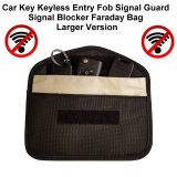 Genuine Car Key Keyless Entry Fob Signal Guard Blocker Faraday Bag - Larger Version