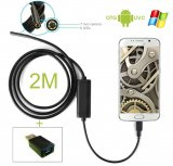 Endoscope Waterproof Blocked Drain Inspection Spy Camera 2m for Android/Windows PC