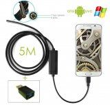 Endoscope Waterproof Blocked Drain Inspection Spy Camera 5m for Android/Windows PC