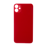 For iPhone 11 Plain Glass Back Replacement in Red