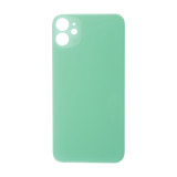 For iPhone 11 Plain Glass Back Replacement in Green