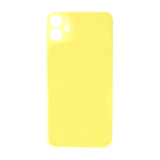 For iPhone 11 Plain Glass Back Replacement in Yellow