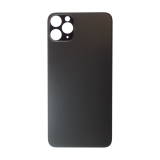 For iPhone 11 Pro Max Plain Glass Back Replacement in Black