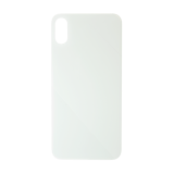 For iPhone XS Max Plain Glass Back Replacement in White