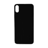 For iPhone XS Plain Glass Back Replacement in Black