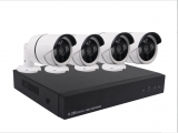 CCTV System With 4 Channel NVR Cables and 4 POE 3MP Cameras (No Hard Drive)