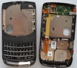 Genuine Blackberry 9800 Torch Middle Chassis Housing +Keyboard,UI,Flex in Black