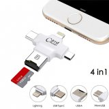 OTG MicroSD Card Reader for iPhone, Type-C and Micro USB