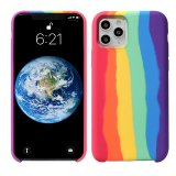 For iPhone 12/12 Pro (6.1) - Gay Pride Rainbow Multicoloured Liquid Silicone Case
