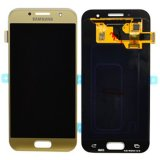 Genuine Samsung Galaxy A3 2017 (SM-A320F) Lcd with Touchscreen in Gold GH97-19732B
