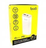 Budi QC3.0 PD 18W Quick Charge Power Bank 1000mAh 37Wh - White