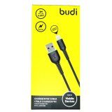Budi Replacement 2M Charging Cable For iPhone in Black