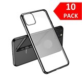 For iPhone 11 Pro Max - Bulk Pack of 10 X Clear Silicone Case With Black Edge