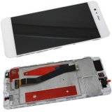 For Huawei P10 VTR-L09 - On Frame LCD Screen and Digitizer in White