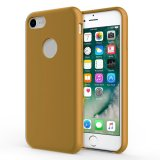 For iPhone 7 / 8 - Smooth Liquid Silicone Case Caramel