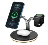 3-in-1 Wireless Magnetic Fast Charger With Night Light For iPhone Watch & Pods