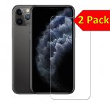 For iPhone 11 Pro Max / Xs Max - Twin Pack of 2 X Tempered Glass Screen Protectors