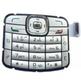 Pack Of 2 Outer Keypad Silver For Nokia N70