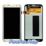 LCD Screen and Digitizer for Samsung Galaxy S7 Edge - Gold