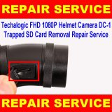 Techalogic FHD 1080p Dual Recording Helmet Camera DC-1 Trapped SD Card Removal Repair Service