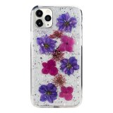 For iPhone 11 Pro - KDOO Flowers Purple Case