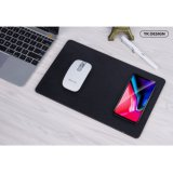 YK Qi Wireless Charger Mouse Mat for iPhone 8/X Samsung - Black