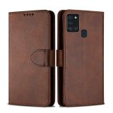 For Samsung Galaxy S21 / S30 - Luxury PU Leather Flip Wallet Case Brown