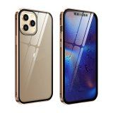Clear Cover Back Case for Samsung Galaxy S8 Plus in Gold