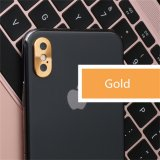 Aluminium Camera Lens Protector Cap For iPhone X in Gold