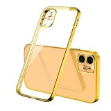 For iPhone 11 - Bulk Pack of 10 X Clear Silicone Case With Gold Edge