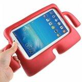 For Samsung Galaxy Tab 7.0 3 A Lite Kids E T110 - Red Kids Light Weight Shockproof Case Stand
