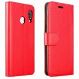 For Samsung Galaxy S21 / S30 - Luxury PU Leather Flip Wallet Case Red