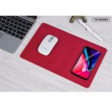 YK Qi Wireless Charger Mouse Mat for iPhone 8/X Samsung - Red