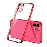 For iPhone 11 Pro Max - Bulk Pack of 10 X Clear Silicone Case With Red Edge