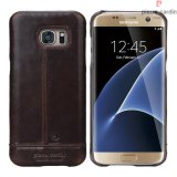 Pierre Cardin Genuine Leather Galaxy S7 Back case - Dark Brown